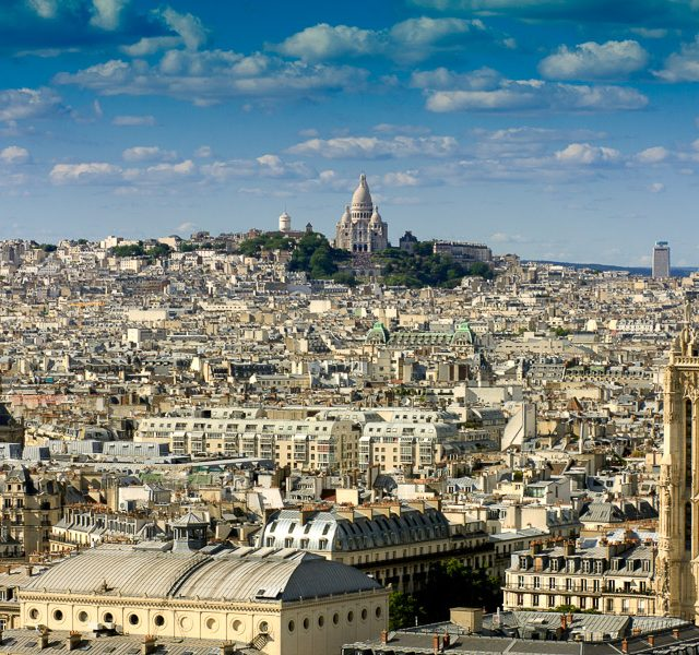 Sacré Cœur from the Top of Notre-Dame