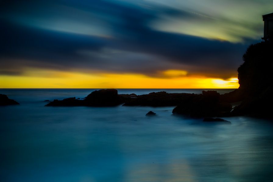 Coastal Fog   Wood's Cove - Laguna Beach, California